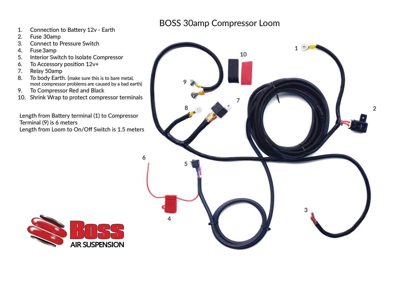 30amp-Compressor-Wiring-Loom Accuair Wiring Diagram on